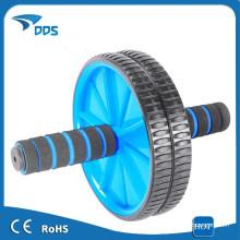 Сдвоенное колесо Ab для роликовых Abs/брюшной тренировки упражнения фитнес синий