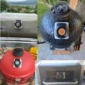 Termómetro de carne de doble sonda con controlador de temperatura inalámbrico para barbacoa