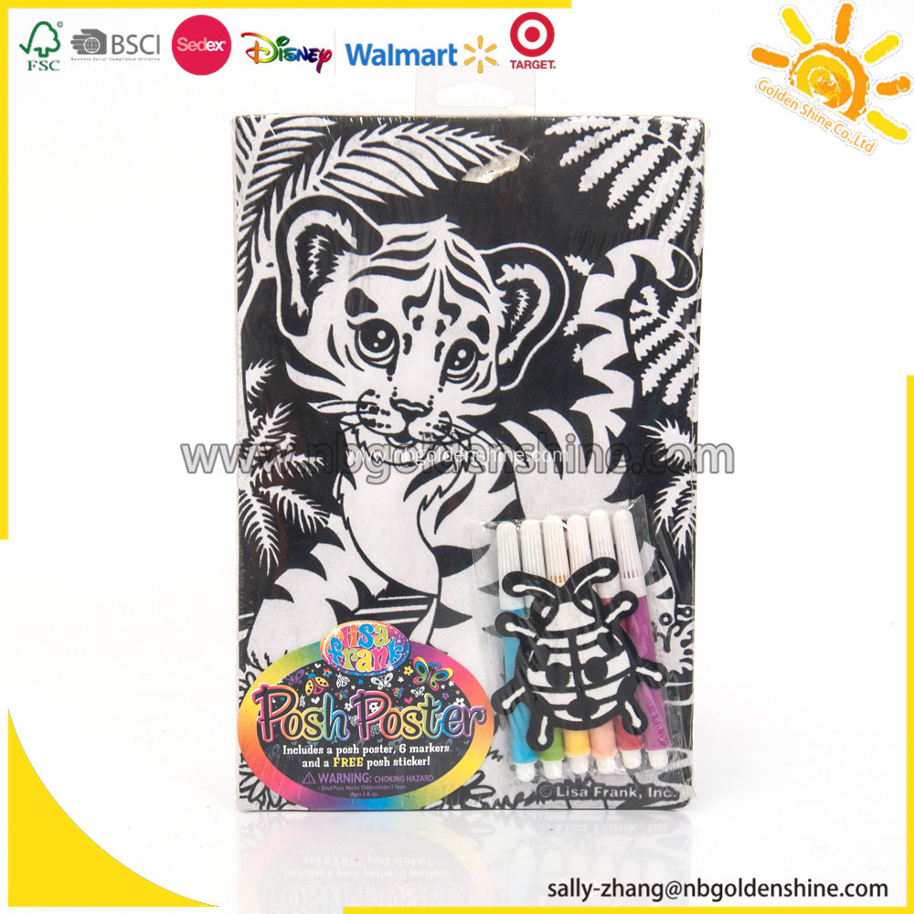 Lisa Frank Velvet Coloring Activity