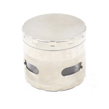 Four layers of flat smoke grinder with side windows 2020