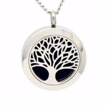 Mode Baum des Lebens ätherisches Öl Diffusor Halskette Anhänger Schmuck