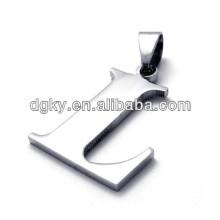 Alphabet en acier inoxydable Charms et pendentifs de lettres