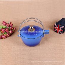 Chaleira / bule de ferro fundido em esmalte para casa