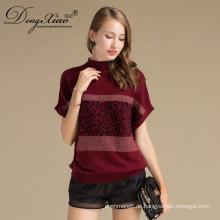 Fledermausärmeln Bluse Kausal Design Pullover Rundhals Kaschmir Damen Pullover