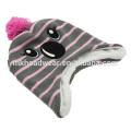 Детская шапочка из бисера, шляпа Инка, Симпатичная теплая зимняя шапочка с ушанкой