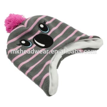 Kinder Earflap Beanie Hut, Inka Hut, Nette warme Winter Beanie Hut mit Earflaps Pattern