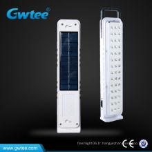 Lumière de secours à énergie solaire rechargeable led