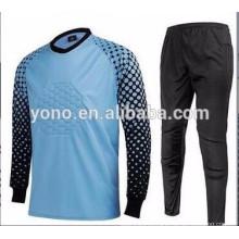 manga larga uniforme del portero de la manga de los hombres al por mayor, jersey de fútbol del portero de la manga larga