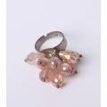 Joyería plateada oro de la manera de Rose con la piedra de cristal del Topaz