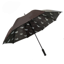 54'' stick golf umbrellas, two layer regular golf 3D photography umbrella