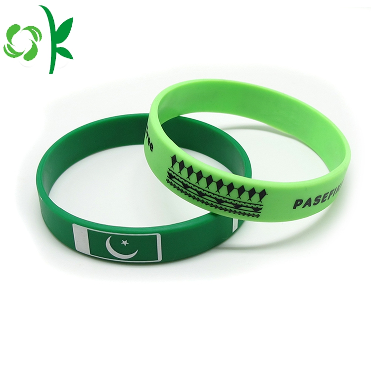 Deep Green Silicone Printed Wristbands