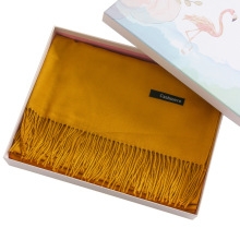 Caja de regalo de bufanda impresa personalizada de embalaje térmico