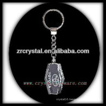 LED crystal keychain with 3D laser engraved image inside and blank crystal keychain G033