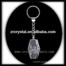Chaveiro de cristal LED com imagem 3D gravado a laser dentro e em branco chaveiro de cristal G033