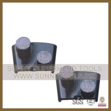 China Almofadas de moedura do assoalho concreto na ligação dura média macia