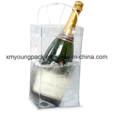 Promotional Portable Plastic PVC Wine or Champagne Cooler Ice Bag