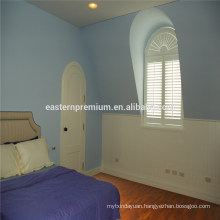 Basswood Arched Windows shutters