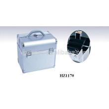 caixa de maquiagem profissional alumínio com bandejas e espelho dentro do fabricante de China