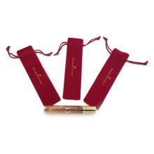 bolsa de veludo para cosméticos bolsa com cordão para caneta