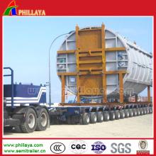 Remorque modulaire d'axe hydraulique de Lowbed Goldhofer de 30-350 tonnes