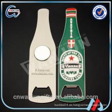 Abridor de botellas de cerveza imán de nevera, abridor de botellas magnético personalizado