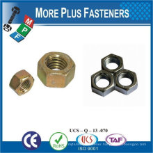 Made in Taiwan Stainless Steel Brass Aluminium Silicone Bronze Hex Thin Jam Nut DIN 439