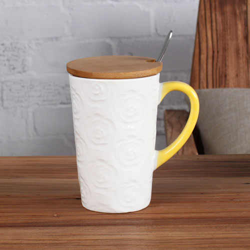 colorful rose durable coffee mug