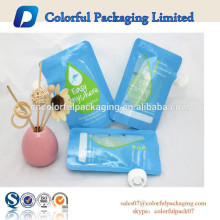 2016 Standup Juice Plastic Reusable Baby food spout pouch with double zipper