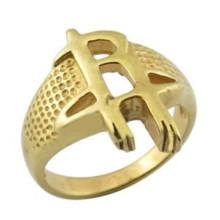 L'anneau de l'équipe artificielle d'or à chaud