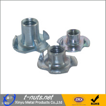 T nuts with 4 prongs