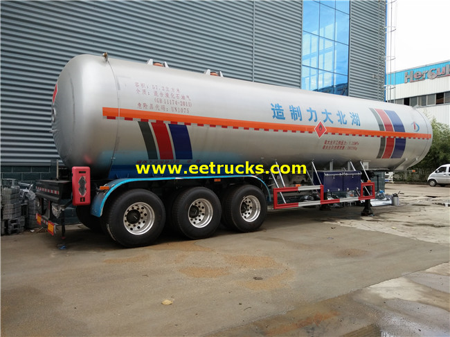 3 Axles Propane Transport Semi-trailers
