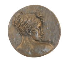Estatua de latón en relieve Lady Bust Relievo Deco Escultura en bronce Tpy-845