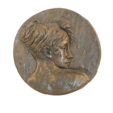 Relief Brass Statue Lady Bust Relievo Deco Bronze Sculpture Tpy-845