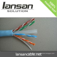Lansan cat6 cabo de cobre completo LAN 23awg 305m BC passagem passar a prova boa qualidade e preço de fábrica