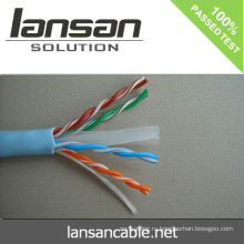 Lansan cat6 полный медный кабель lan 23awg 305m BC проходят испытание fluke хорошее качество и цена по прейскуранту завода-изготовителя