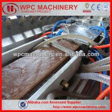 Parede de madeira composta de madeira janela de cerca porta de janela máquina de perfil de chão Máquina de plástico de plástico de madeira
