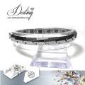 Destino los cristales de la joyería de Swarovski pulsera de acero inoxidable