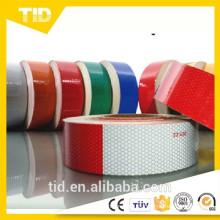 Cinta reflectante de alta intensidad grado rojo y blanco / rojo camión cinta reflectante DOT-C2