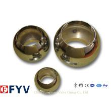 Válvula de esfera de aço inoxidável de alta qualidade