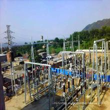 Arquitectura de la subestación de transmisión de energía de tubos de acero de 110 kV