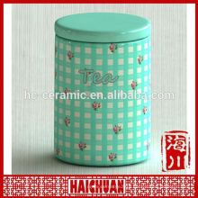 cow painted ceramic storage canister set