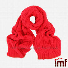 Popular Ladies Cashmere Hand Knitted Shawl Scarf