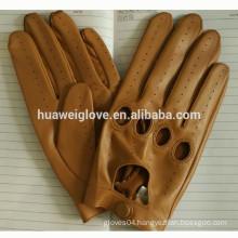 BSCI certificates wholesale Motorbike gloves leather full finger Men's driving leather gloves