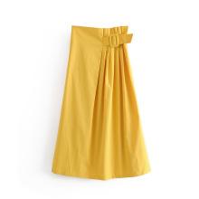 Women Pleated Long Skirt With Belt Dress