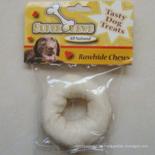 """Productos para perros 4 """"-5"""" White Puffy Donut Dog Chew"""