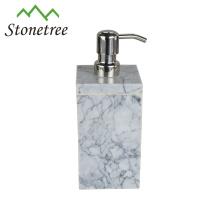Distribuidor do sabão líquido de mármore dos acessórios do banheiro do hotel
