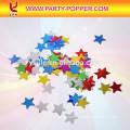 Champagne Confetti Cannon with Colorful metallic Foil Stars