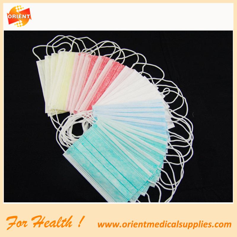 2-ply mascherina usa e getta non tessuto blu