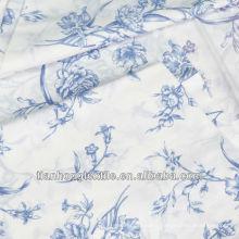 100% Cotton Twill Spandex Flower Printed Fabric
