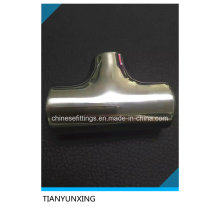Polished Machined Sanitary Fittings Stainless Steel Tee